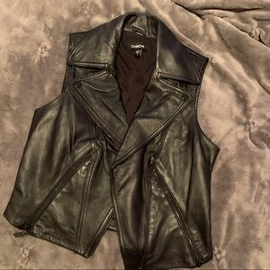bebe leather vest